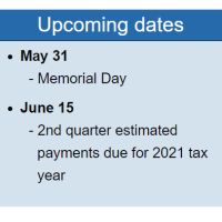 Tax & Business Newsletter: May 2021